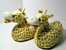 Giraffe Slippers Comfy Feet Small (Fits Sz 12.5 Toddler - 5 Youth)
