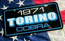 1971 Ford Torino Cobra License Plate Car Tag 71 Super Cobra Jet 429 Blue