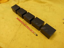5 pc LOT BLACK DELRIN BAR plastic flat stock acetal 1 1/2