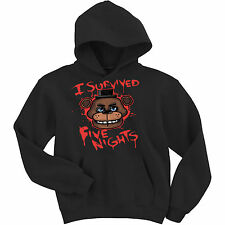 five nights at Freddy's unisex kids hoodie i survived Birthday gifts boy girl