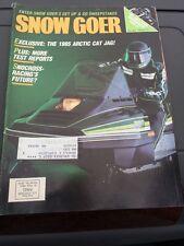 Dec Jan 1983 SNOW GOER snowmobile magazine Arctic Cat Jag COVER Yamaha Polaris +