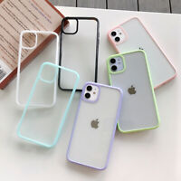 For iPhone 12 11 Pro Max XS XR 8 7 SE 2 Shockproof Hybrid Clear Hard Case Cover
