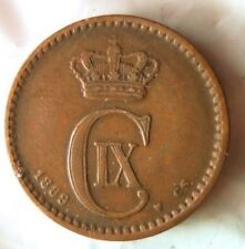 1889 DENMARK ORE - High Quality Vintage Coin - FREE SHIP - HGBin #1