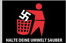 HOLD DEINE ENVIRONMENT CLEANLY (AGAINST NAZIS) FLAG
