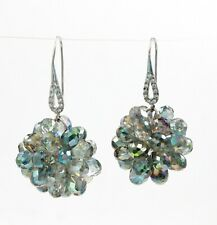 Drop Dangle Earrings ~ Nwot Beautiful Handcrafted Multi-Color Crystal Ball
