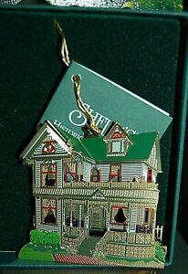NEW Shelia TINKER TOY HOUSE Howell Michigan GOLD ORNAMENT Monroe / Stull