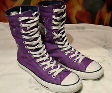 CONVERSE ALL STAR HI PURPLE SNEAKER TRAINERS BOOTS USED SIZE UK 7 FREEPOST