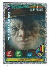 Doctor Who Alien Armies Glitter Chase Card G14 The Face Of Boe Panini Good