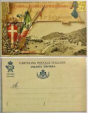 115) Cartolina 2 Batt. Fanteria Indigeni Eritrea Regio Corpo Truppe Coloniali