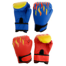 2 Pairs Kickboxing Fighting Boxing Gloves Mitts for Kids Age 6-12 Boys/Girls