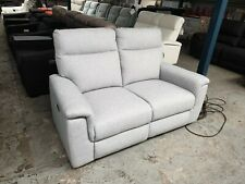 D Mara Fabric 2 Seat Sofa With Electric Reclining Action - Domayne