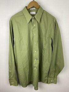 Van Heusen Shirt Mens Medium / 37 Long Sleeve Button Up Close Regular Fit Adult