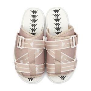 Kappa Authentic JPN Mitel (Men's Size 10) Offwhite Brown Sandals Slide
