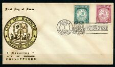 Philippines, 1959, Scott # 656 & 657, First Day Cover, City of Bacolod