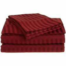 All Bedding Sets Item Choose Size & Item Burgundy Stripe 1000 TC Egypt Cotton