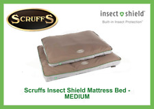SCRUFFS DOG PET BED, NON SLIP BASE, WASHABLE, INSECT SHIELD MATTRESS - MEDIUM