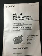 Operating Instruction Manual for Sony DCR-TRV8E / TRV10E