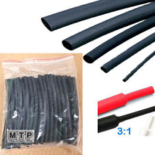 "50x 6"" 1/8"" (3.2mm) 3:1 Heat Shrink Tubing Adhesive Lined Dual Wall Black 25Ft"