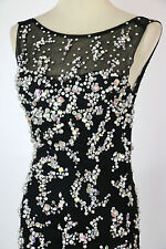 New Jovani Genuine 88087 Black Ball Bridal Pageant Gown Formal Size 4