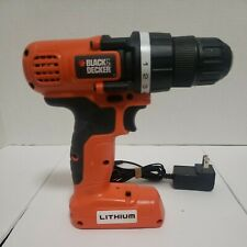"BLACK/DECKER 7.2V LITHIUM DRILL/DRIVER  Model LDX172 3/8"" Excellent Condition"