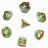 Flexble DND Polyhedral Dice, Fruit Series 7-Die Fun Game Dice Set for Dungeons a