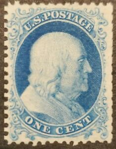 US Stamp SC#40 1875 1 Cent Franklin Mint NG as issued w/ Centennial Stamp folder