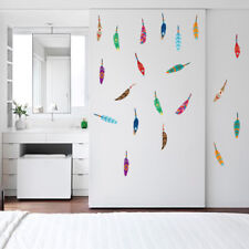 Colorful Feather Wall Sticker Cartoon Decals Baby Nursery Kids Bedroom Art Decor