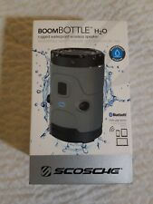 Scosche Boom Bottle H20, Waterproof Wireless Speaker,  NIB, Gray, MSRP $139.99