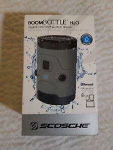 Scosche Boom Bottle H20, Waterproof Wireless Speaker,  NIB, Gray, MSRP $139.99