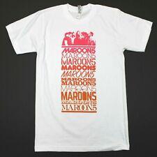Maroon 5 American Apparel Short Sleeve 2017 Tour Tee - White - S
