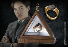 HARRY POTTER 24K GOLD VOLDEMORT MARVOLO GAUNT HORCRUX RING PROP REPLICA +DISPLAY
