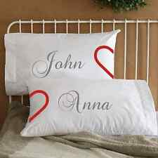 Personalized Heart Couple Pillowcases Anniversary Birthday Wife Engagement gift