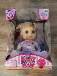 Baby WOW Chatty Emma Newborn Voice Activated Talking Doll Moves Her Mouth Head