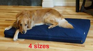 Durable Waterproof Orthopedic MEMORY FOAM  Dog Bed Pad w/ removable Denim cover