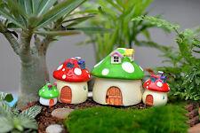 Miniature Mushroom House Landscape Decor Dollhouse Fairy Garden Ornament DIY