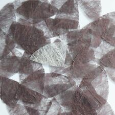 "Fishscale Fin Sequin 1.5"" Coffee Brown Silky Fiber Strand Fabric Loose Paillette"