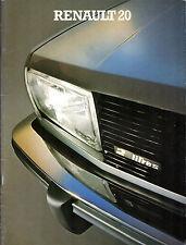 Renault 20 1979-80 UK Market Sales Brochure TL LS TS