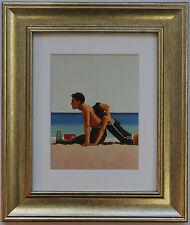 Beach amanti da Jack Vettriano incorniciato & montato Art Print PICTURE GOLD