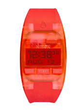 Nixon Women's Comp S Chrono Digital Dial Silicone Band Watch - Coral A3362040