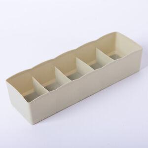5 Grid Underwear Sock Tie Drawer Storage Box Divider Tidy Wardrobe Organizer Box