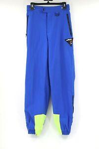 Vintage Fila women's L blue neon green ski pants retro 3m thinsulate high waist