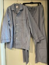 Brooks Brothers MEN'S Chambray COTTON Pajamas with Drawstring Waist Size X-LARGE