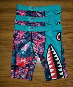 ETHIKA Boy's 3 Pack Bomber Tropic Boxer Briefs Size Large 10/12