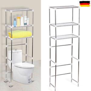 3 Tier Toilettenregal Waschmaschinenregal Badezimmer Bad Regal WC Standregal DE