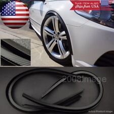 "2 Pairs 47"" Black Carbon Arch Wide Body Fender Extension Lip For Mitsubishi"