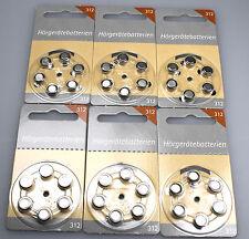 36 Batterie Per Apparecchi Acustici Base Hörex Grandezza 312 NUOVO