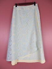 SK10403- J. JILL Woman Linen Nylon Asymmetrical Long Skirt Multi-Color Floral 10