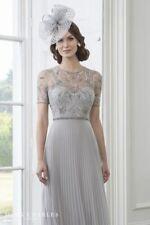 John Charles 66461A Grey Mother of the Bride Wedding Long Evening Dress UK 12 40