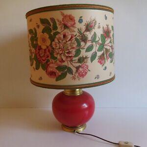 Lamp Chevet Living Room Lampshade Lighting Art Nouveau Deco Design 20th Italy