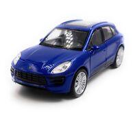 Porsche Macan Turbo Tous-Terrains Maquette de Voiture Auto Bleu Échelle 1:3 4